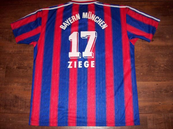 1995 1997 Bayern Munich Ziege Home Football Shirt Adults XL